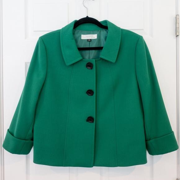 Tahari Jackets & Blazers - Tahari, by ASL, Blazer Jacket, Green, Size 16